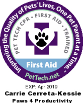 Pet Tech CPR and First Aid Trained